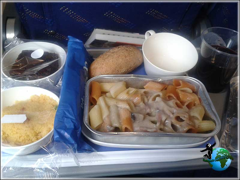 Merienda/Cena del vuelo Madrid-New York