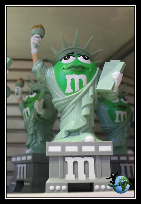 Lady Liberty en m&m´s store