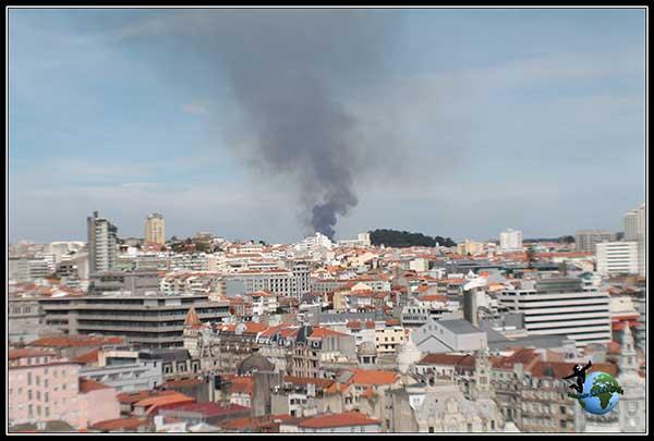 Incendio en Oporto