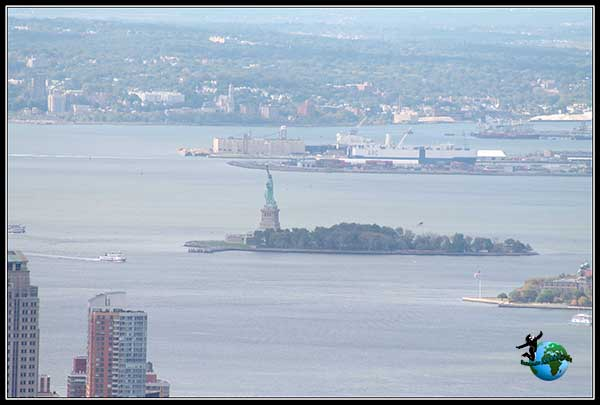 Lady Liberty desde el Empire State Building