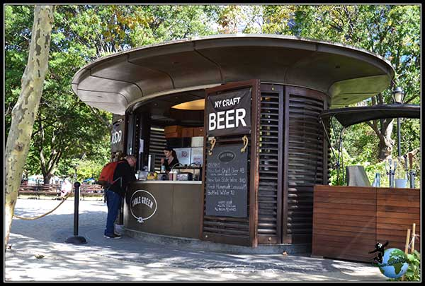 Puesto de cervezas de New York en Battery Park