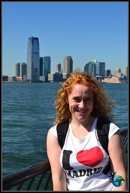 Momentos antes de mi salto a la fama. Paseando por Battery Park