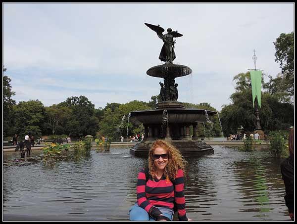 Fuente en Central Park, en New York