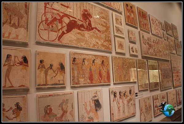 Dibujos sobre la vida en Egipto en el Metropolitan Museum de New York
