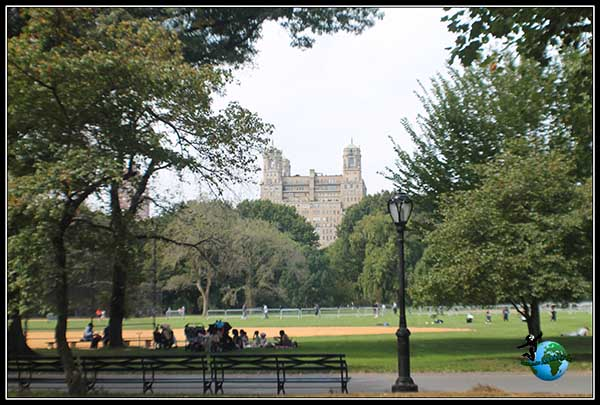 Recorriendo Central Park en New York.