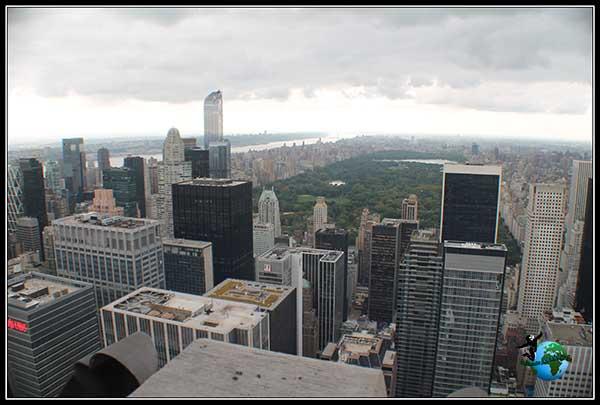 Vistas de Central Park desde el Top of the Rock en New York