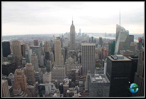 Vistas del Empire State Building desde el Top of the Rock en New York