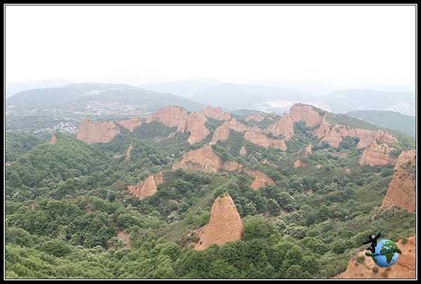 Vistas de Las Médulas desde el Mirador de Orellán