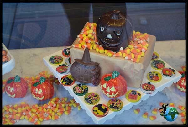 Decoración para Halloween que nos encotramos en New York.