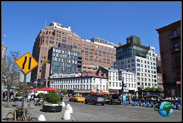 Paseando por Greenwich Village en Nueva York.