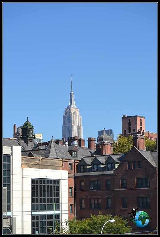 Vistas desde High Line Elevated Park en New York.
