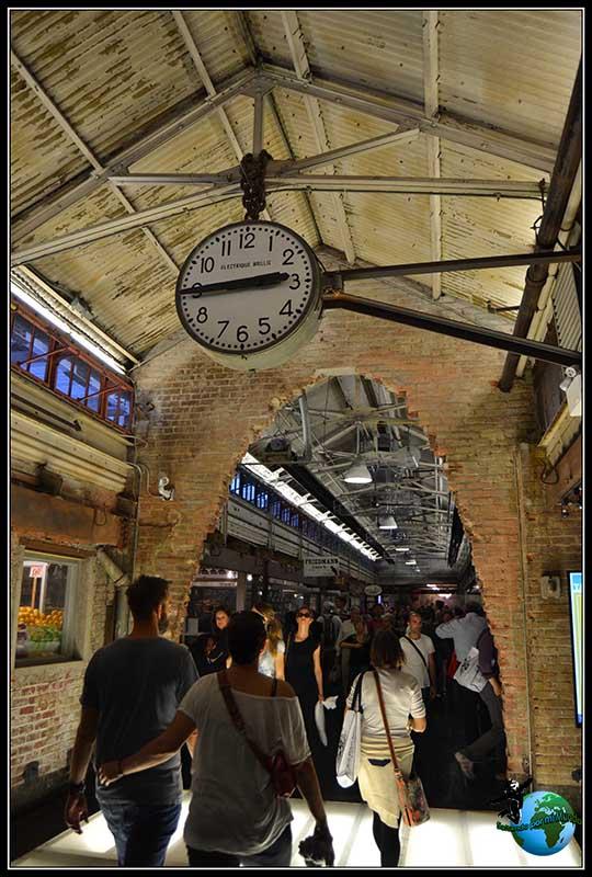 Detalles de Chelsea Market en New York.