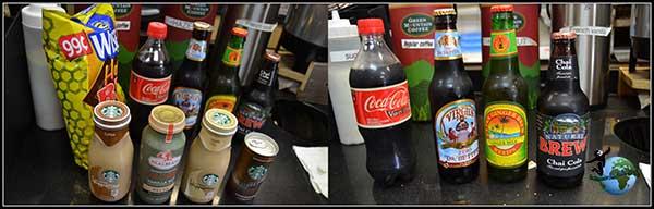 Las bebidas que compramos en Brookly. Algo diferentes a lo que estamos acostumbrados.