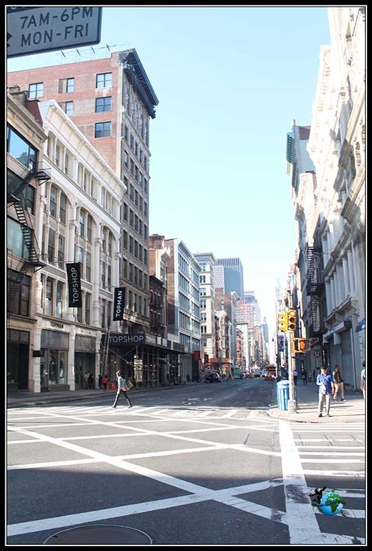Barrio residencial de Tribeca en New York.