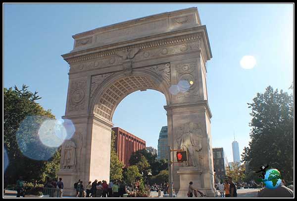 Arco del Triunfo en Washington Park en New York.