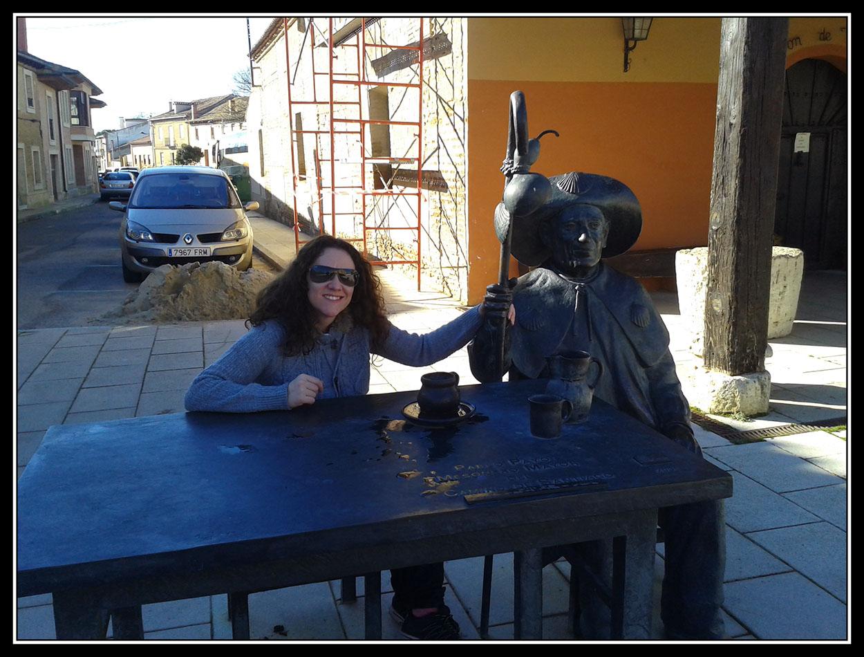Con mi amigo el Peregrino en Villalcazar de Sirga.