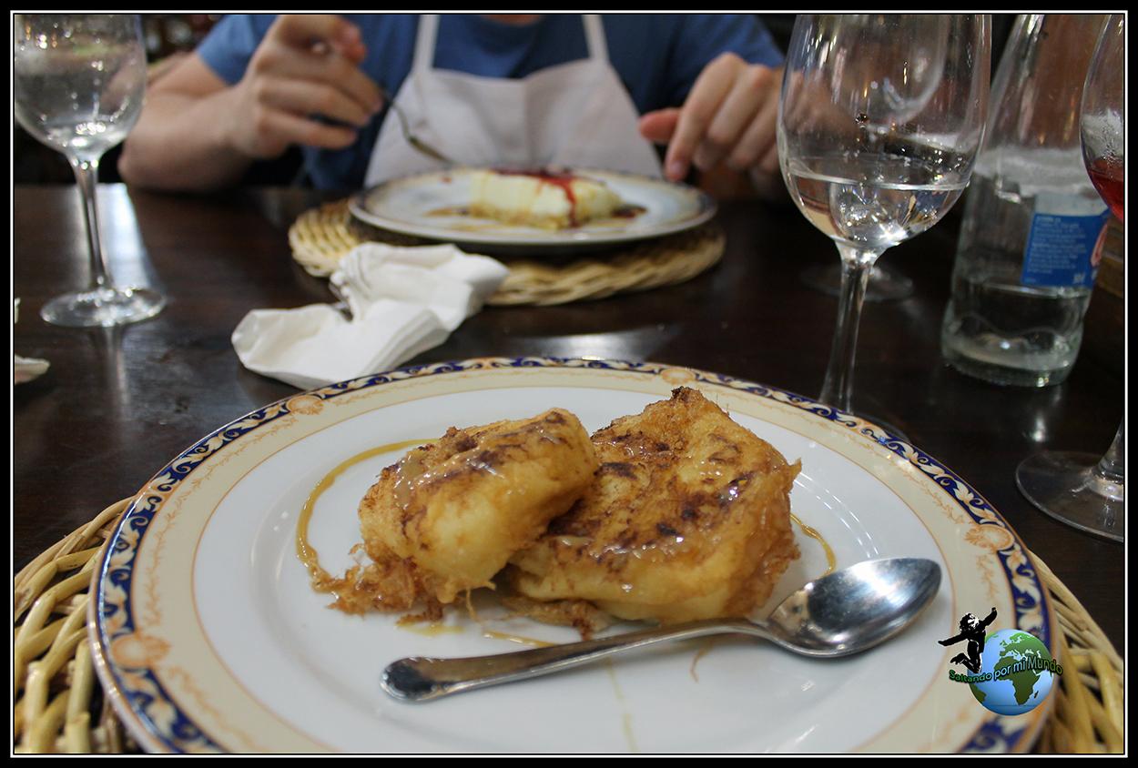 Leche frita del Mesón de los Templarios en Villalcazar de Sirga.