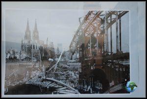 Imágenes de los daños sufridos por la Catedral de Colonia sufridos en la Segunda Guerra Mundial.