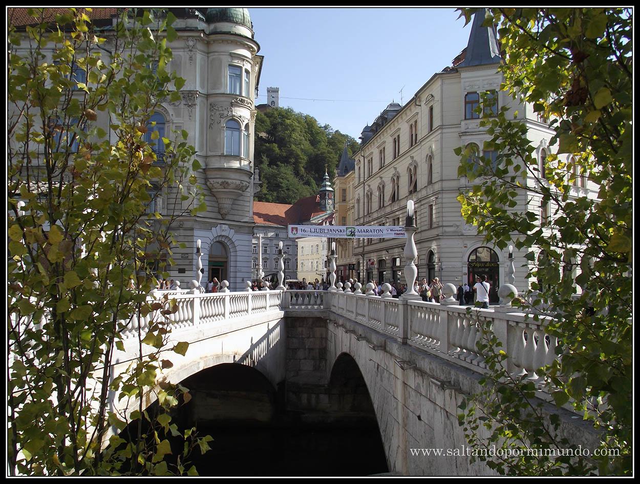 1530 - Tromostovje y los edificios del Mercado central y la oficina de turismo de Ljubljana dom25-9