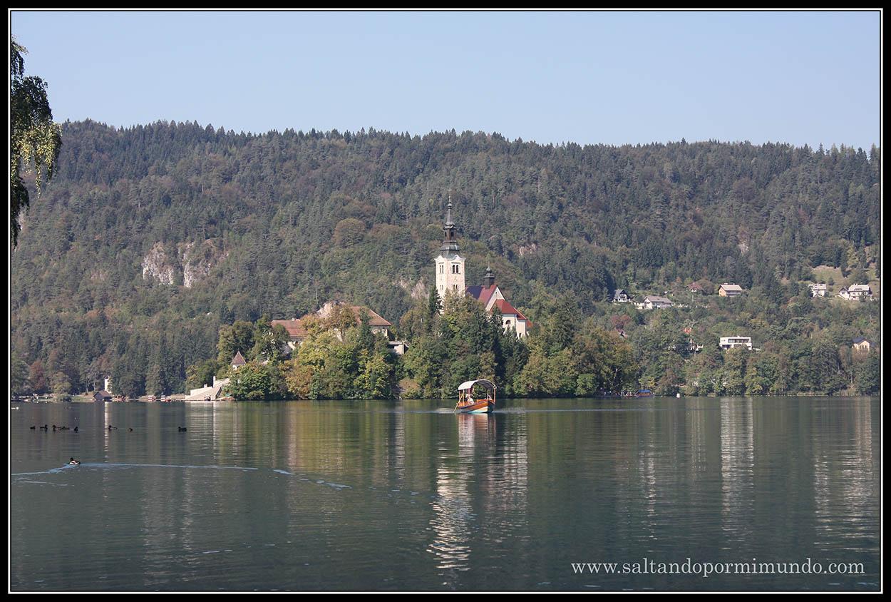 1835 - Iglesia de la Asunción en el lago Bled lun26-9
