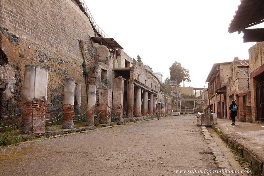 Excavaciones de Herculano, Italia.