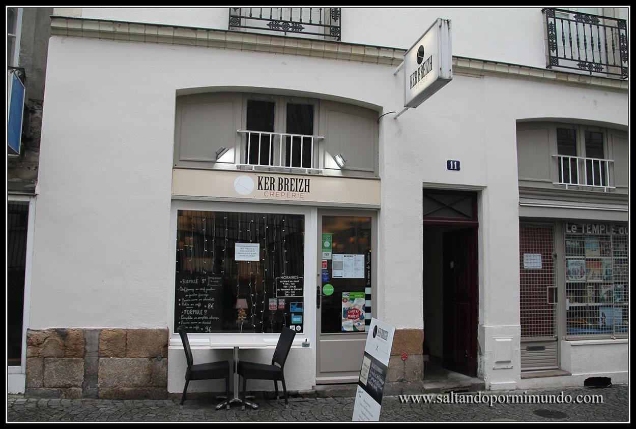 Dónde comer barato en Nantes, crepería Ker Breizh