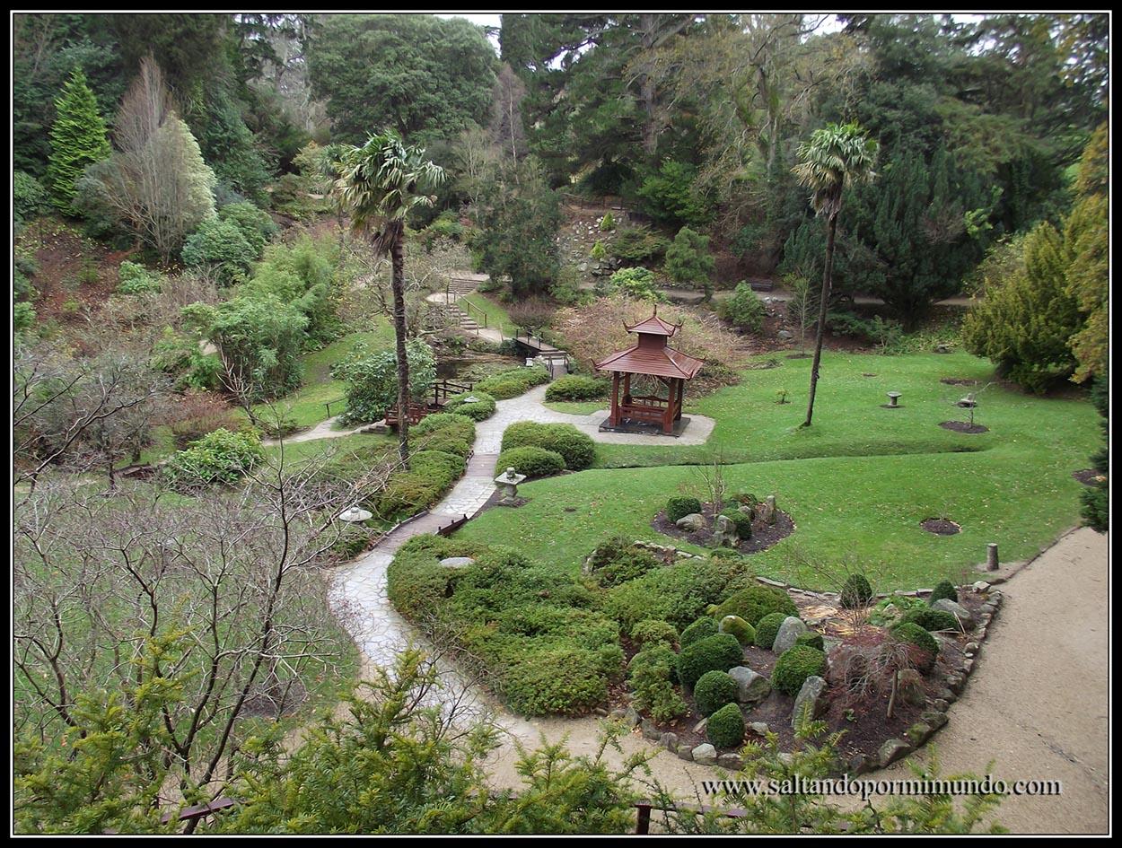 Jardin japonés de Powerscourt Garden, Condado de Wicklow, Irlanda.
