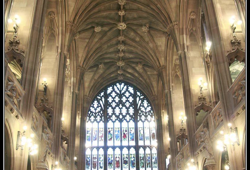 La librería más bonita de Manchester, The John Rylands Library.