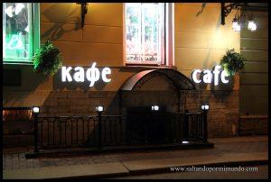 Café Rasputín en San Petersburgo. Un lugar muy recomendable para cenar muy cerca del Hermitage.