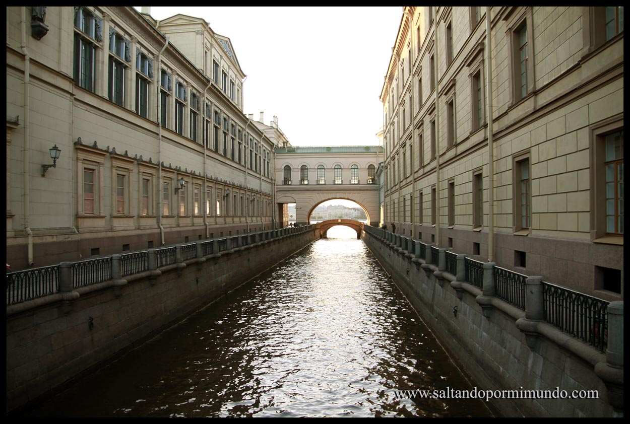 Edificios conectados en el Hermitage