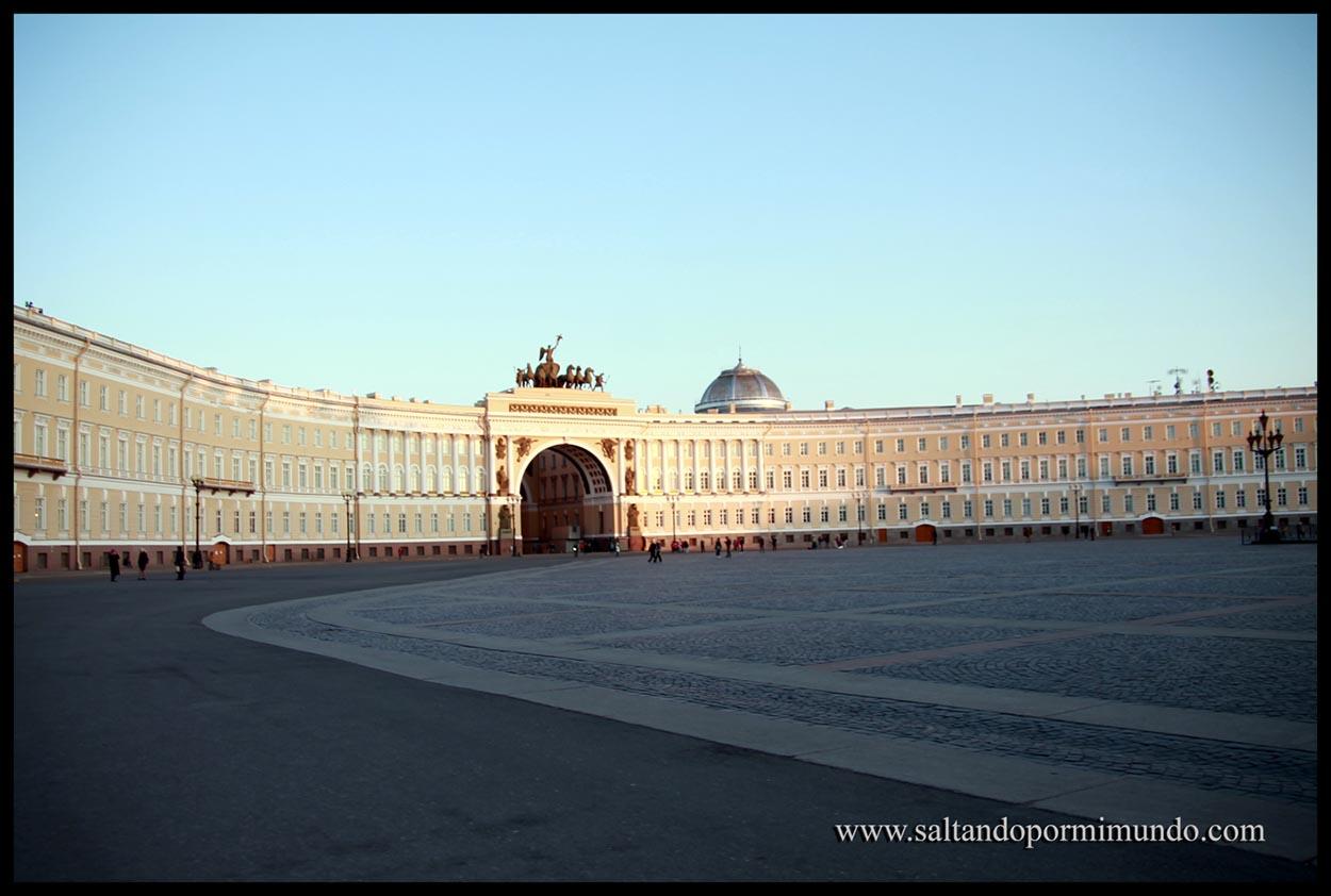 Plaza del Palacio en San Petersburgo.