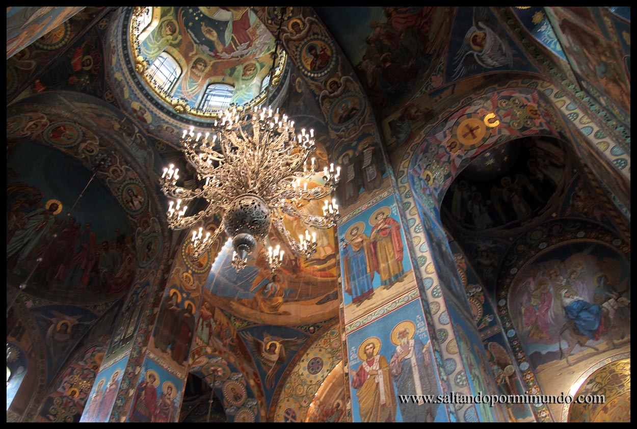 Interior de la Iglesia del Salvador sobre la Sangre Derramada.