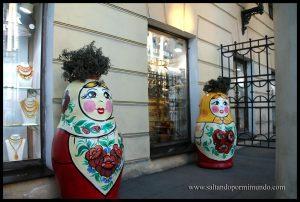 Matriuskas en cualquier lugar, en Rusia.