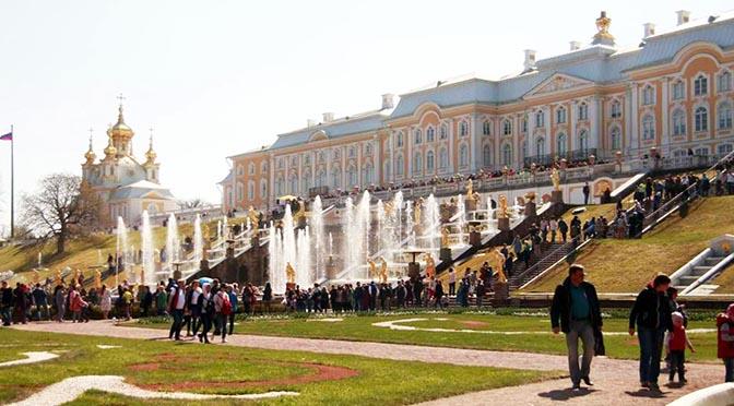 Palacio de Peterhof, el «modesto» palacio de verano de Catalina.