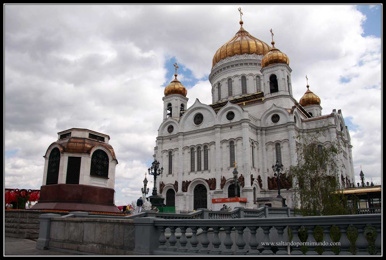 Catedral del Cristo Salvador en Moscú.