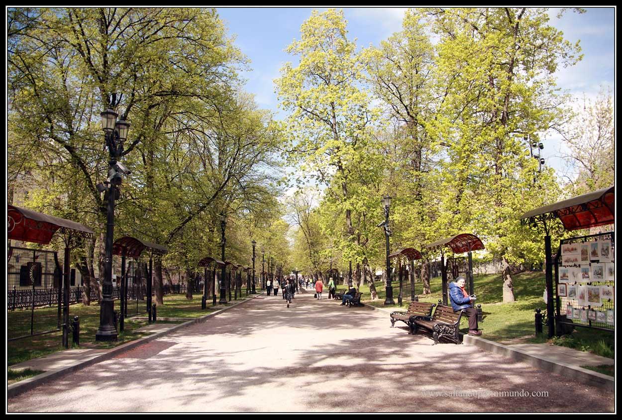 Moscu.Bulevar Gogolevsky