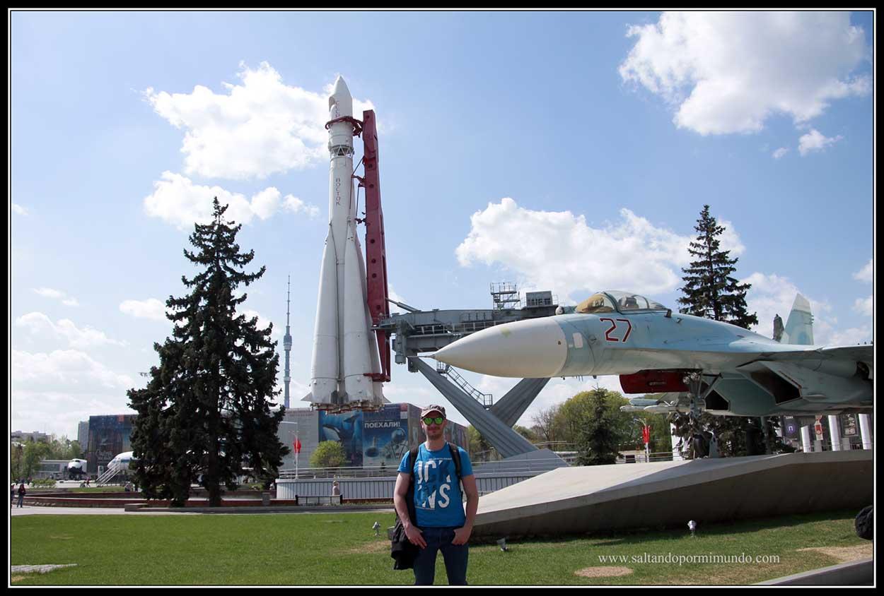 Réplica del cohete que envío a Yuri Gagarin al espacio.