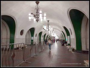 La estación de VDNKh es una de las más profundas.
