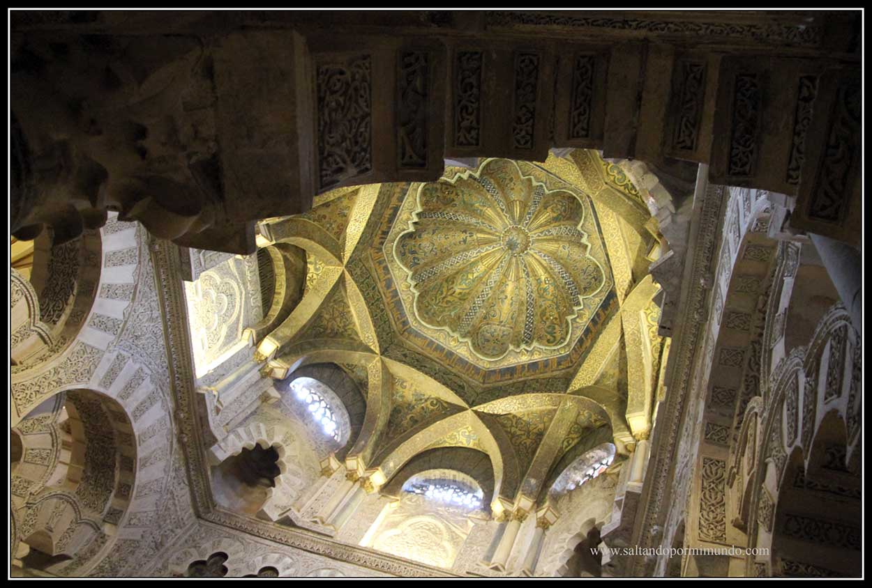 Cúpula central de la Mezquita de Córdoba