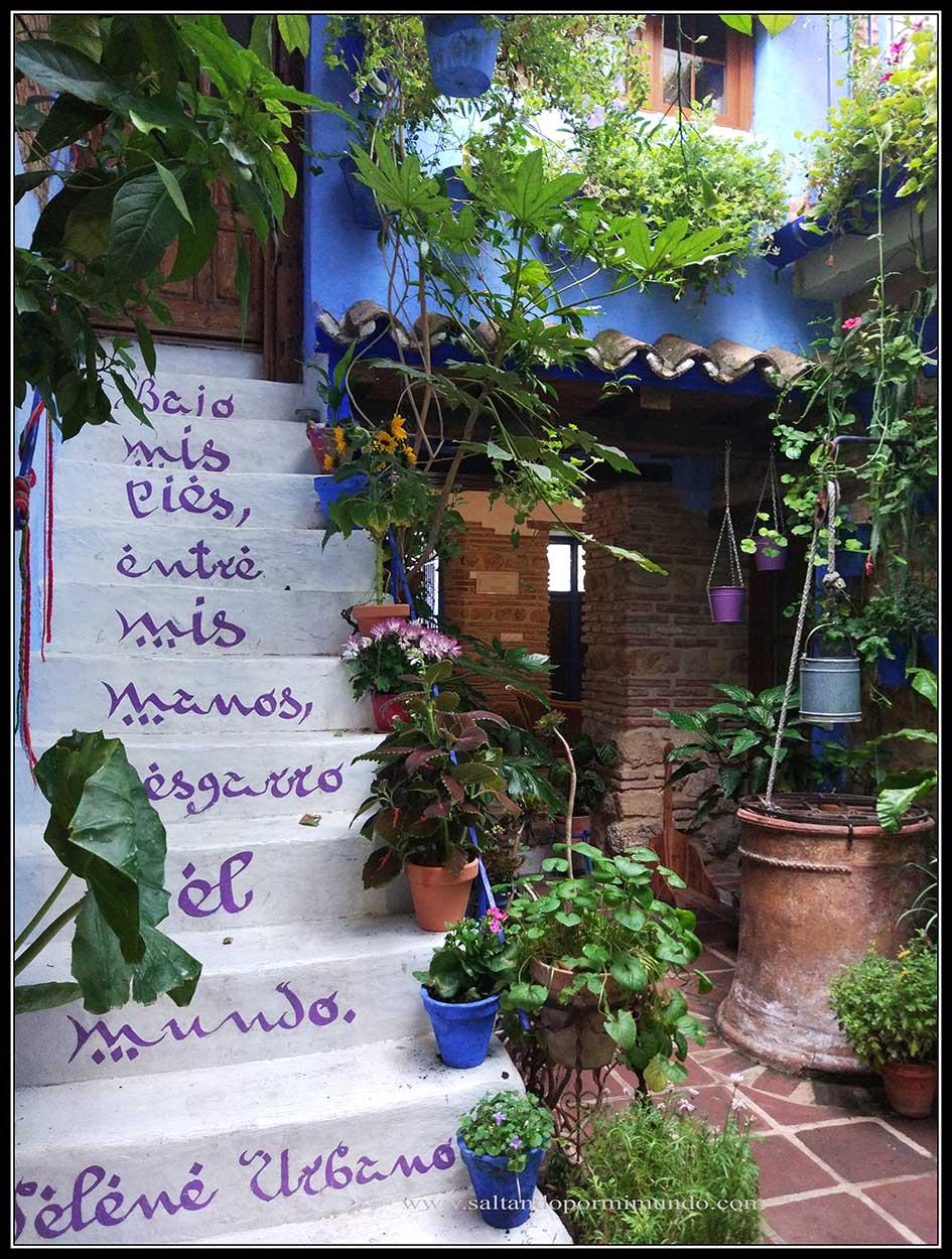 Patio Vesubio, el más bonito del Barrio de san Lorenzo