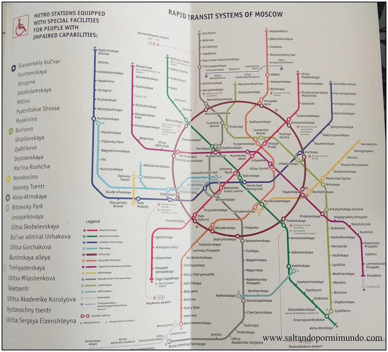 Plano metro Moscú