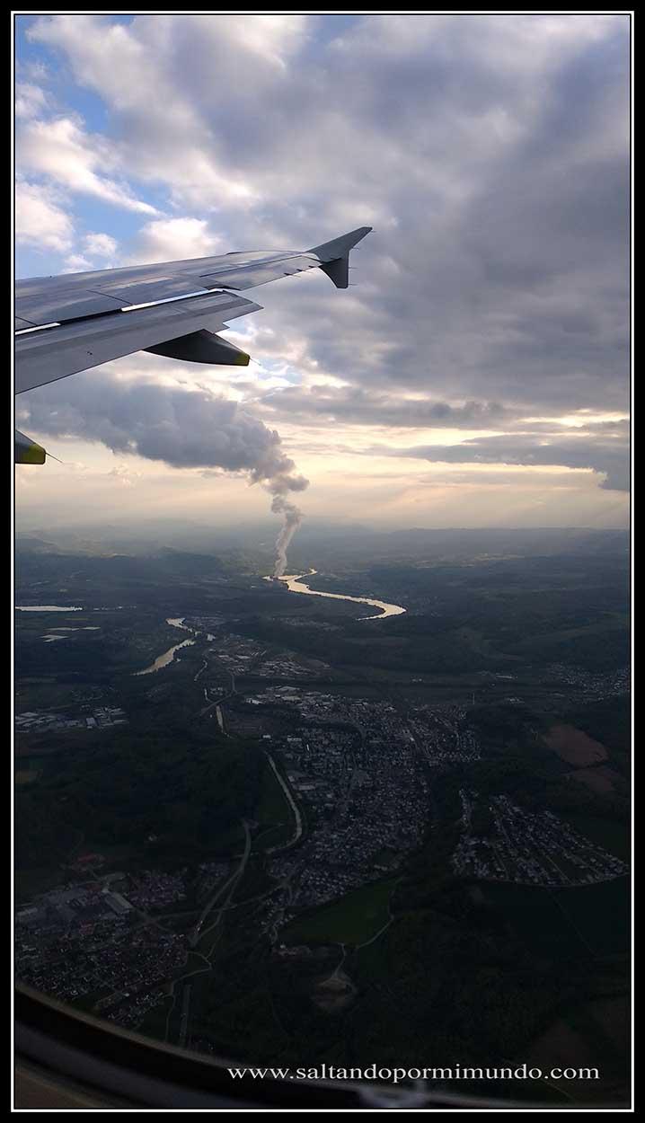 Despegando de Zurich para llegar a Madrid.