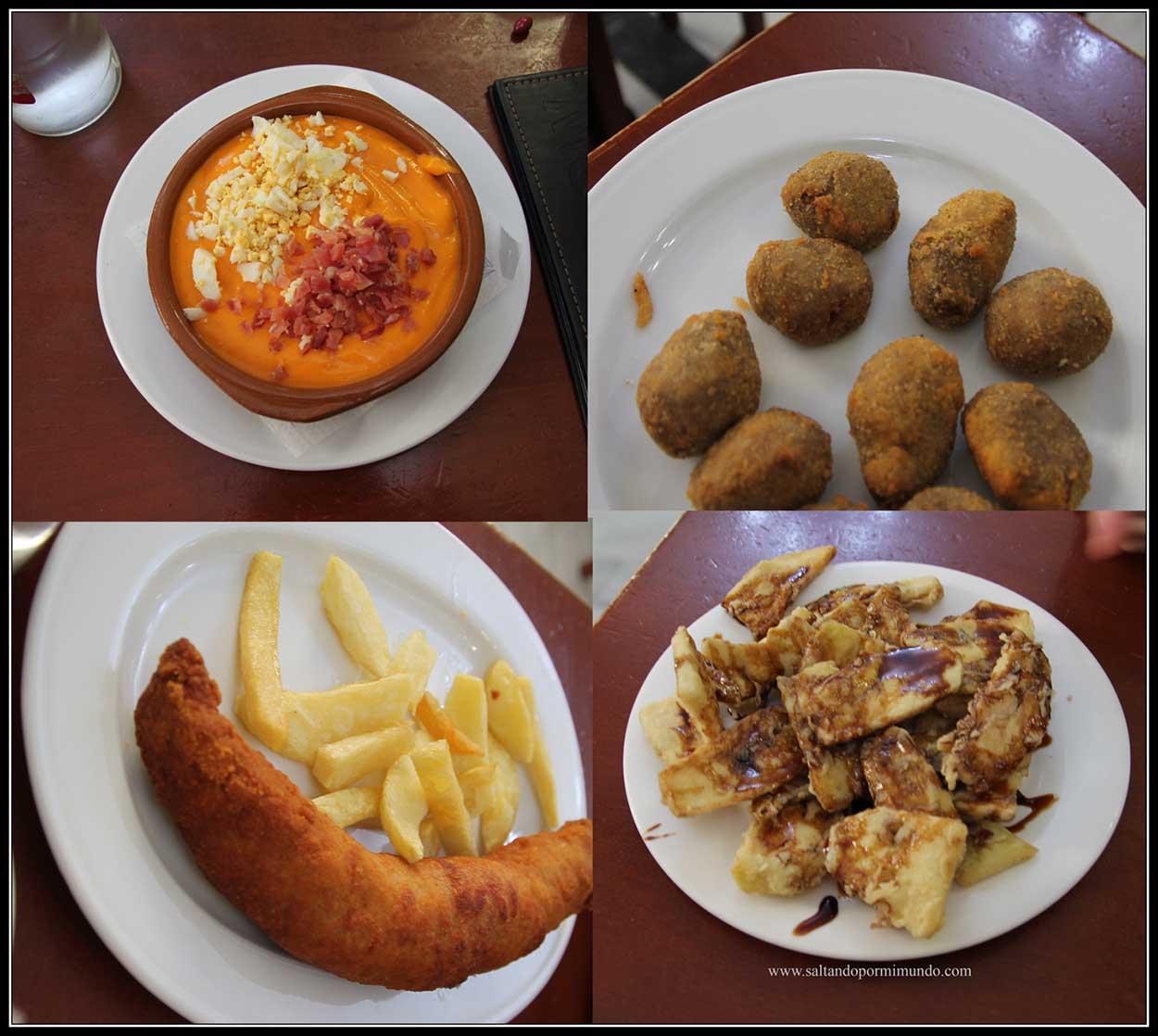 Probando los platos típicos de Córdoba