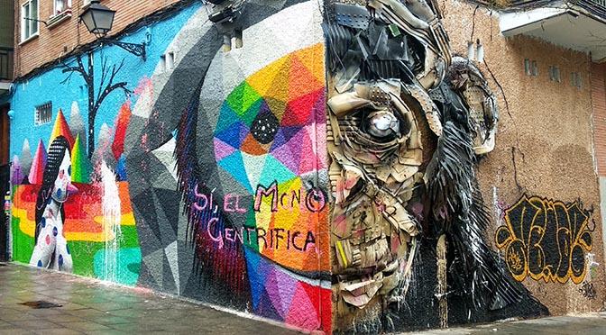Una foto una historia: Street Art en Madrid, Okuda y Bordalo