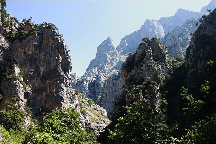 Preciosas vistas de los Picos de Europa en la ruta del Cares