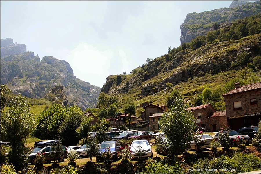 Vistas desde Caín de los Picos de Europa en la ruta del Cares
