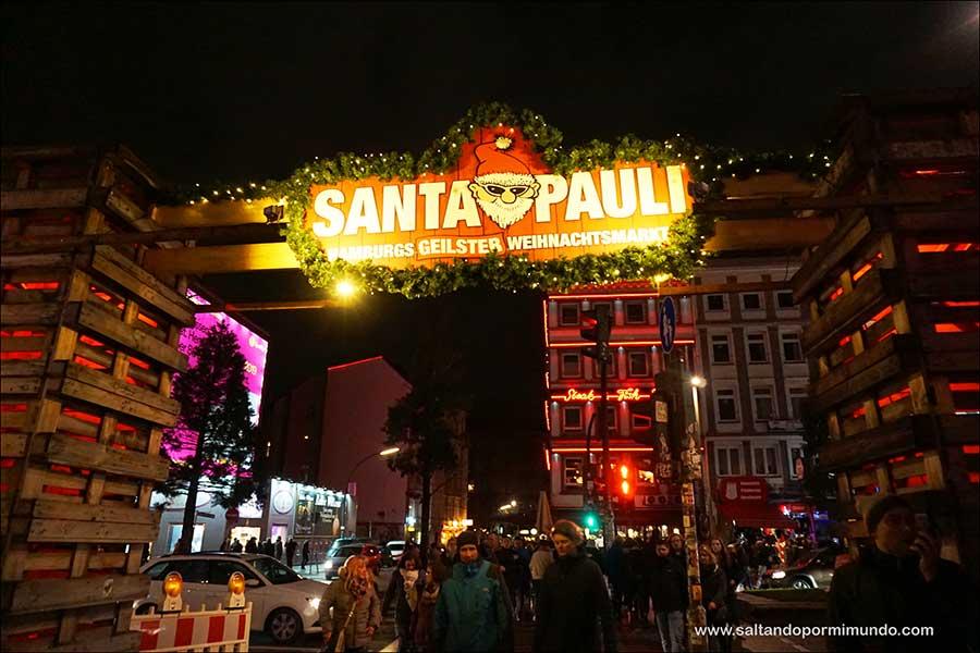 Mercadillo de St. Pauli, el mercado más golfo de Hamburgo.
