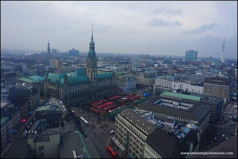 Las mejores vistas del ayuntamiento de Hamburgo