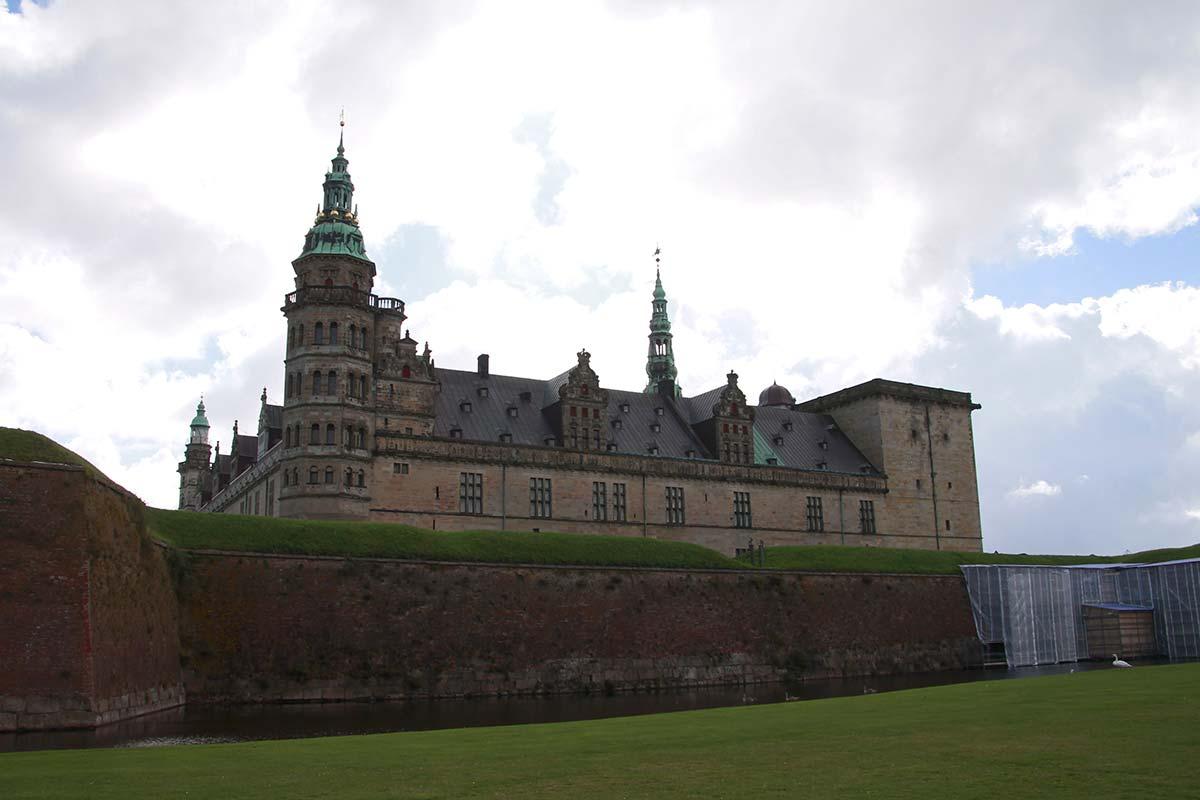 El Castillo de Hamlet en Elsinor, Dinamarca