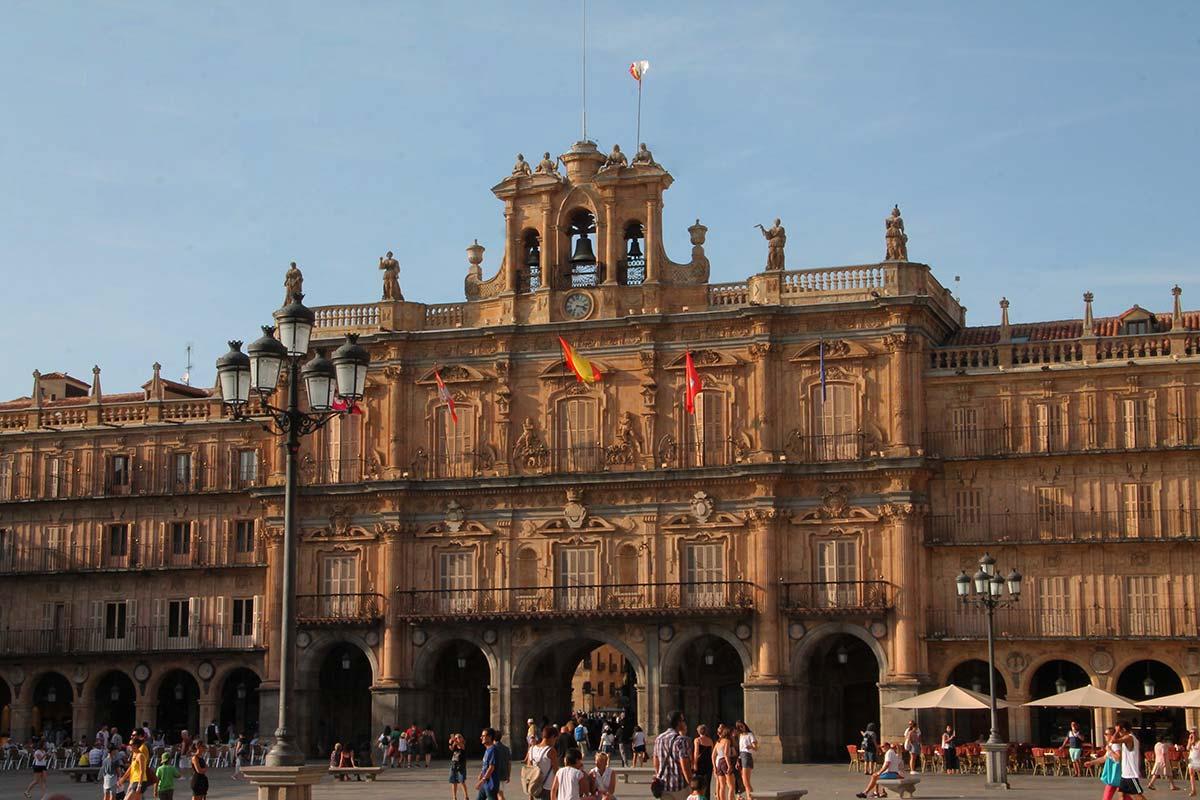 La Plaza Mayor de Salamanca, una de las más bonitas de España